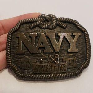 Koleaco US NAVY Brass Nautical Belt Buckle Rope